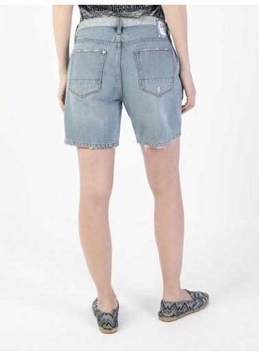 Colin's Colin'S Regular Fit Orta Bel Kisa Cordelia Wash Kadın Jean Şort Renkli